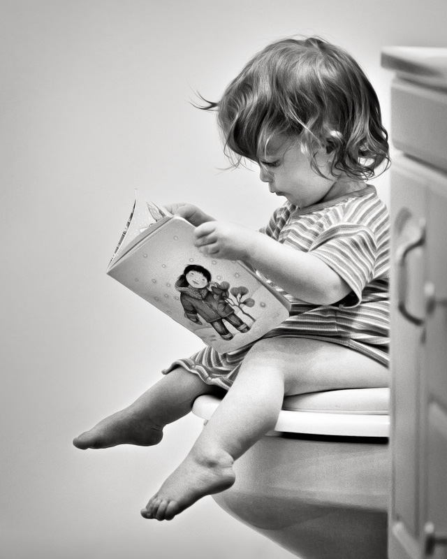 Bathroom Reading by Jay Ryness